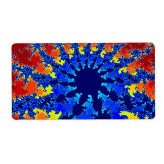 fractal agradable de la estrella azul del etiquetas de envío