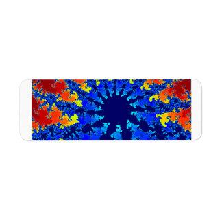 fractal agradable de la estrella azul del etiquetas de remite