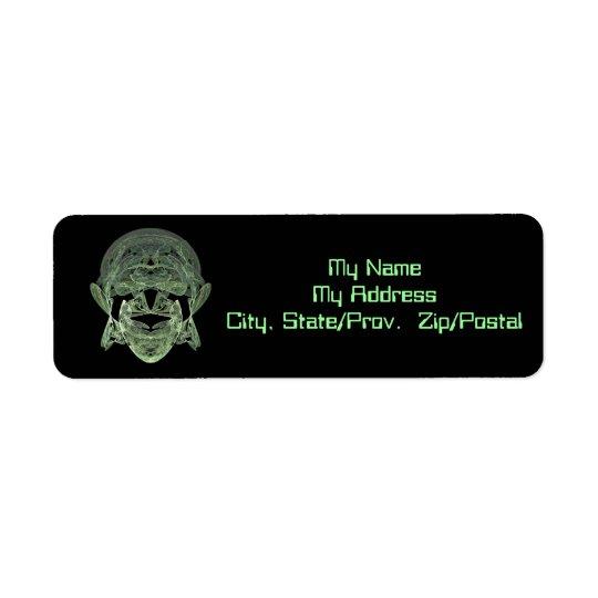Fractal Alien Label