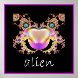 Fractal Alien Poster