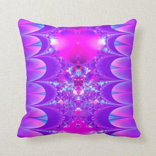 Fractal: Almohada púrpura y rosada de las joyas