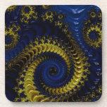 Fractal amarillo azul y de oro profundo magnífico