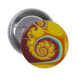 Fractal amarillo del espiral del Seashell Pins