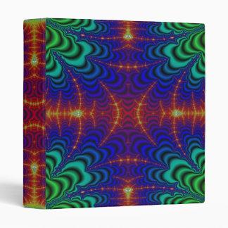 Fractal amarillo rojo del Wormhole del verde azul Carpeta 2,5 Cm