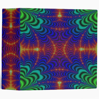 Fractal amarillo rojo del Wormhole del verde azul Carpeta 5 Cm