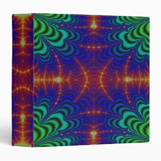 Fractal amarillo rojo del Wormhole del verde azul Carpeta 3,8 Cm