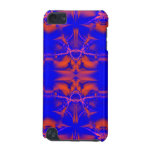 fractal anaranjado azul