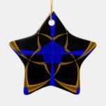 Fractal anaranjado de la estrella ornamento de reyes magos