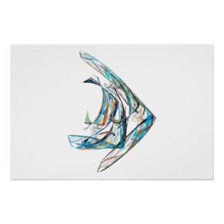 Fractal - Angelfish Poster