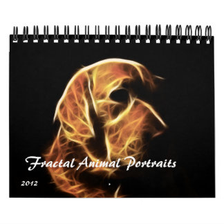 Fractal Animal Portraits 2012 Calendar