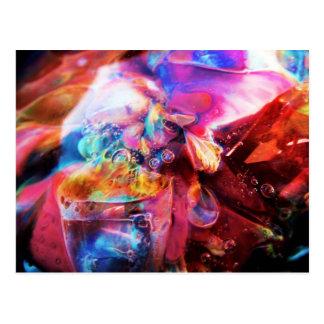 Fractal Aquarium Lampwork Boro Glass Art Postcard