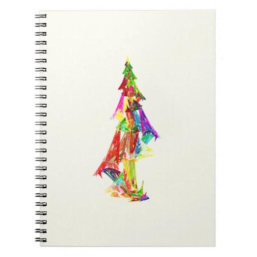 Fractal - árbol de navidad libros de apuntes con espiral