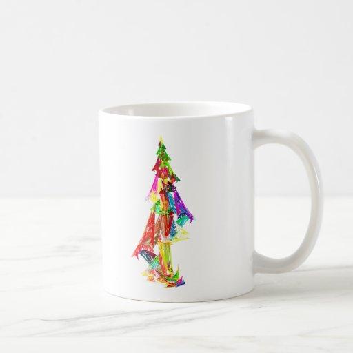 Fractal - árbol de navidad taza de café