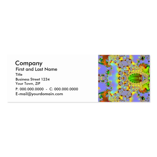 Fractal Art 021 EML Double-Sided Mini Business Cards (Pack Of 20)