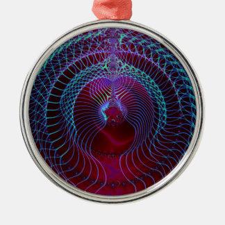Fractal Art 027 EML Metal Ornament
