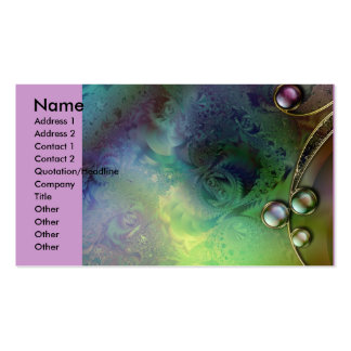 Fractal_Art_12, Name, Address 1, Address 2, Con... Double-Sided Standard Business Cards (Pack Of 100)