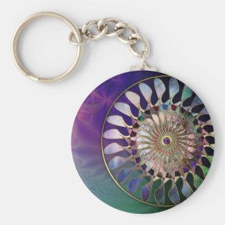 Fractal_Art_24 Basic Round Button Keychain