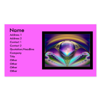 Fractal_Art_30, Name, Address 1, Address 2, Con... Double-Sided Standard Business Cards (Pack Of 100)
