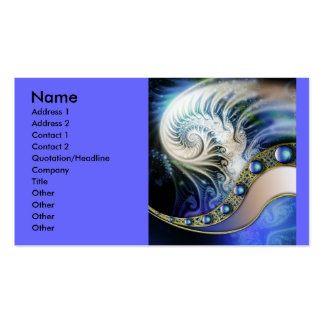 Fractal_Art_39, Name, Address 1, Address 2, Con... Double-Sided Standard Business Cards (Pack Of 100)