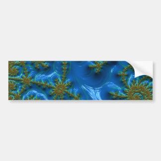 fractal-art-441377 fractal art elegant vibrant blu bumper sticker