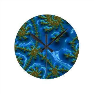 fractal-art-441377 fractal art elegant vibrant blu wallclock