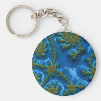 fractal-art-441377 fractal art elegant vibrant blu keychains