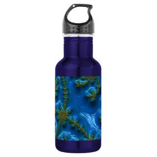 fractal-art-441377 fractal art elegant vibrant blu 18oz water bottle