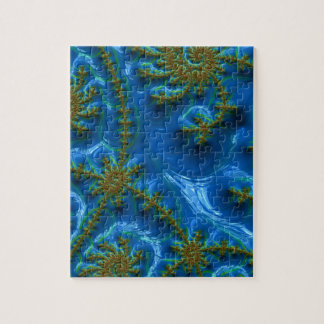 fractal-art-441377 fractal art elegant vibrant blu jigsaw puzzle