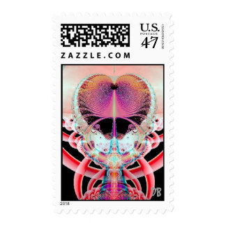 Fractal Art Awesome Heart Postage