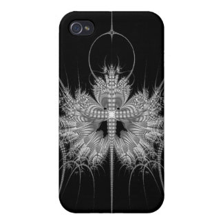 Fractal Art - Black White ip3 Speck Case Cases For iPhone 4