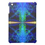 Fractal Art Blue Hard Shell i Pad Case Cover For The iPad Mini