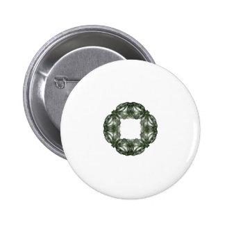 Fractal Art Christmas Wreath Button