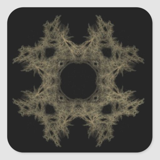 Fractal Art Cobweb Square Sticker