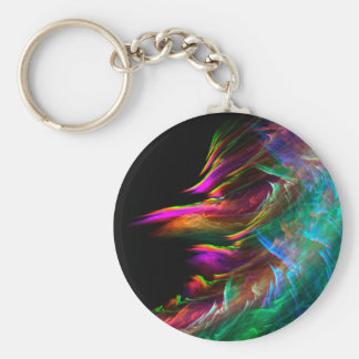 Fractal art collection keychain