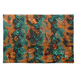 Fractal Art Fabric Abstract Design Cool Awsome Placemats