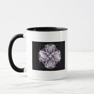 Fractal Art Flower with Button Center Mug