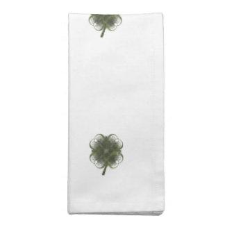 Fractal Art Four Leaf Clovers Printed Napkin