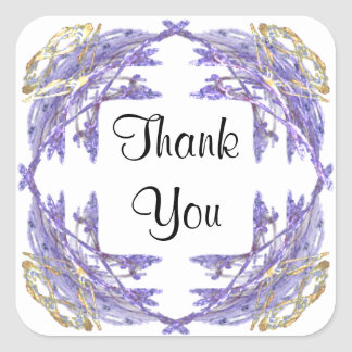 Fractal Art Framed Thank You Stickers
