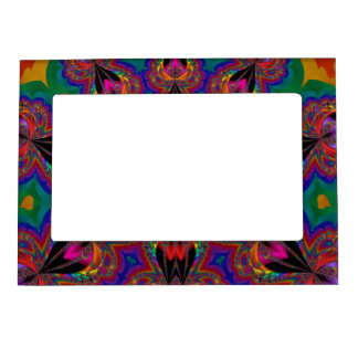 fractal art fridge magnet frame