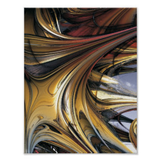 Fractal Art Gold Candy Poster