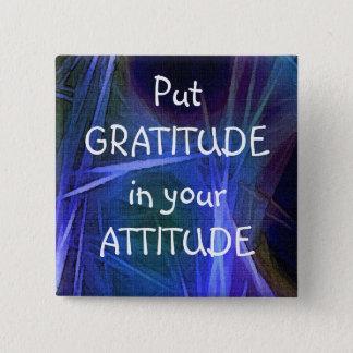 Fractal Art GRATITUDE Positive Affirmation Button