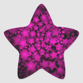 Fractal Art Hot Pink Neon Stars Star Sticker