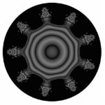 Fractal art in Black and Gray. Acrylic Cut Outs