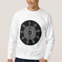 Fractal art in Black and Gray. Sweatshirt