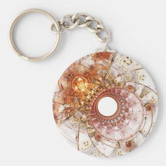 Fractal Art Keychain: Fiery Temperament Keychain