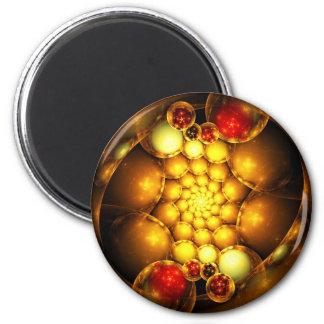 Fractal Art Magnet: Dragon Eggs 2 Inch Round Magnet