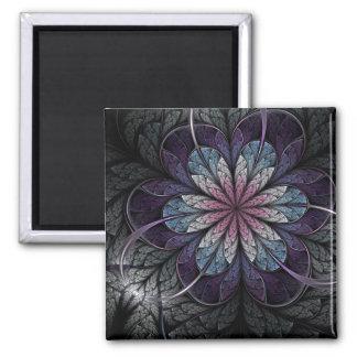 Fractal Art Magnet: Flower Of Melancholy 2 Inch Square Magnet