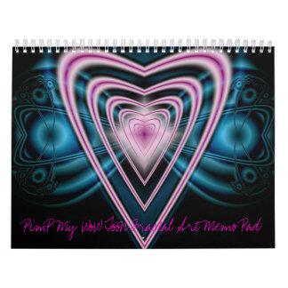 Fractal Art Memo Pad Calendar