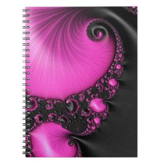 Fractal Art Spiral Note Books