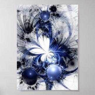 Fractal Art Poster: Blizzard Poster